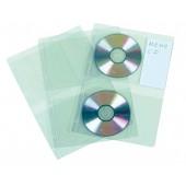 FUNDA CD/DVD PVC DOBLE A4 4T P/10 UD.